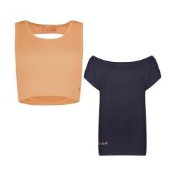 ست تی شرت و نیم تنه ورزشی زنانه پانیل مدل 167NaGl