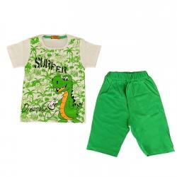 ست تی شرت و شلوارک بچگانه مدل دایناسور هاوایی