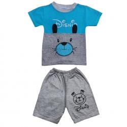 ست تی شرت و شلوارک پسرانه مدل خرس گوش دار کد 10abi