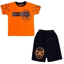ست تی شرت و شلوارک پسرانه مدل spider-man کد SPI_125