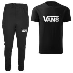 ست تی شرت و شلوار مردانه مدل 002041 رنگ مشکی                     غیر اصل