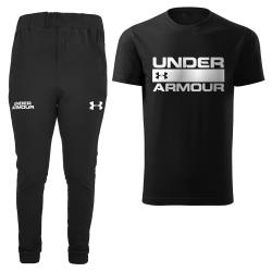 ست تی شرت و شلوار مردانه مدل 002047 رنگ مشکی                     غیر اصل