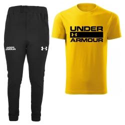 ست تی شرت و شلوار مردانه مدل 002047 رنگ زرد                     غیر اصل