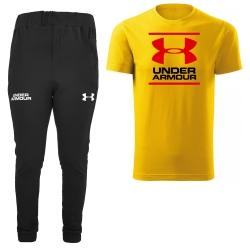 ست تی شرت و شلوار مردانه مدل 00248 رنگ زرد                     غیر اصل