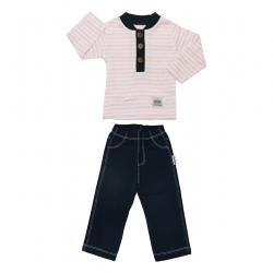 ست تی شرت و شلوار نوزادی پسرانه آدمک مدل 1155011 کد 12