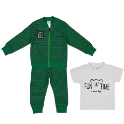ست ۳ تکه لباس بچگانه بانالی مدل رایان کد ۲۶۱۲