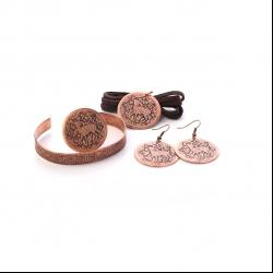 ست زیورآلات دست ساز زنانه آرانیک مدل حکاکی کد 1524000013