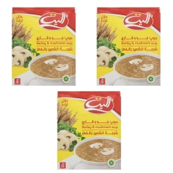 سوپ نیمه آماده جو وقارچ الیت – 65 گرم بسته 3 عددی