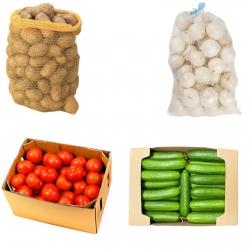 سیب زمینی – 3 کیلوگرم و پیاز – 3 کیلوگرم و خیار – 3 کیلوگرم و گوجه – 3 کیلوگرم