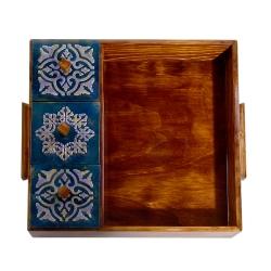 سینی چوبی پذیرایی مدل درب دار کد 008