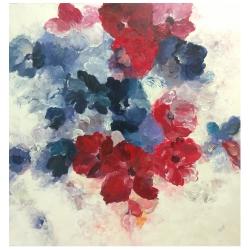 تابلو نقاشی رنگ روغن طرح گل کد VZ01