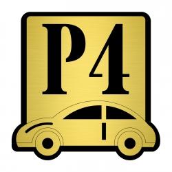 تابلو نشانگر مستر راد طرح پارکینگ شماره 4 کد P-BG 04