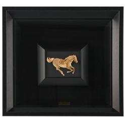 تابلو ورق طلا الون طرح اسب شماره 13 کد 198353
