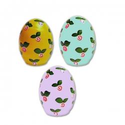 تخم مرغ تزیینی مدل گلهای بهاری مجموعه سه عددی