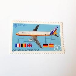 تمبر یادگاری مدل هواپیمای ایرباس کد 1988
