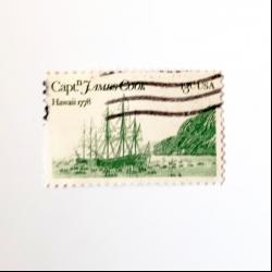 تمبر یادگاری مدل کشتی کاپیتان جیمز کوک