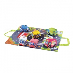 تشک بازی هانگر طرح خیابان مدل HE0252 به همراه ماشین بازی