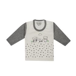 تی شرت آستین بلند نوزادی مدل 988584GY