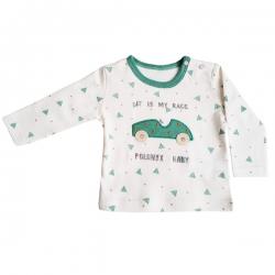 تی شرت آستین بلند نوزادی پولونیکس مدل ماشین کد 11819-06