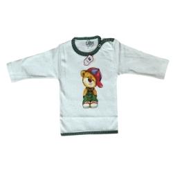 تی شرت آستین بلند نوزادیلایت مدل خرس کلاه دار کد 277