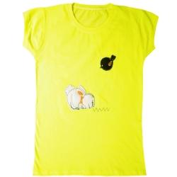 تی شرت آستین کوتاه دخترانه مدل 2021 کد 02