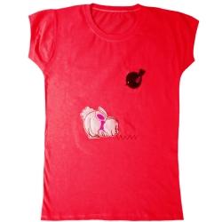 تی شرت آستین کوتاه دخترانه مدل 2021 کد 03
