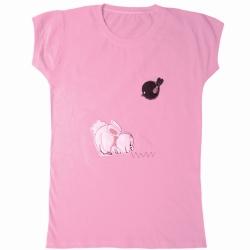 تی شرت آستین کوتاه دخترانه مدل 2021 کد 04