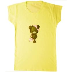 تی شرت آستین کوتاه دخترانه مدل 2021 کد 11