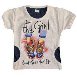 تی شرت آستین کوتاه دخترانه مدل GTKAFSH