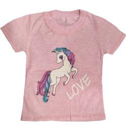 تی شرت آستین کوتاه دخترانه مدل GTUNICORNSOR