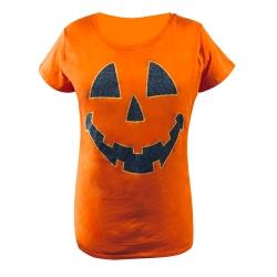 تی شرت آستین کوتاه دخترانه مدل هالووین کد X-136
