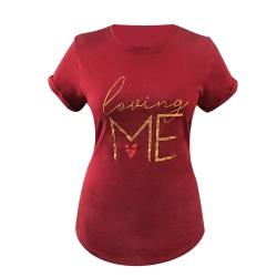 تی شرت آستین کوتاه دخترانه مدل لاو کد X-137