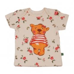 تیشرت آستین کوتاه نوزادی دخترانه شابن طرح خرس دختر کد 1