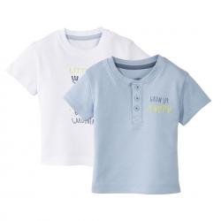 تی شرت آستین کوتاه نوزادی لوپیلو مجموعه 2 عددی