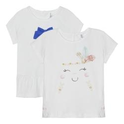 تی شرت آستین کوتاه نوزادی مدل LU-4418200 مجموعه 2 عددی
