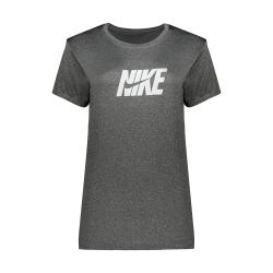 تی شرت آستین کوتاه ورزشی دخترانه مدل Q218 رنگ ذغالی                     غیر اصل
