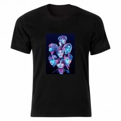 تی شرت آستین کوتاه زنانه مدل بی تی اس tme169
