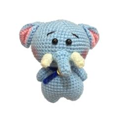 عروسک بافتنی مدل فیل کد 23