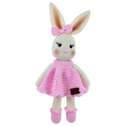 عروسک بافتنی طرح خانوم خرگوشه