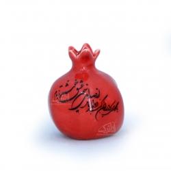 انار سفالی لعاب ساده  رنگ قرمز   مدل 1105800034