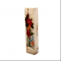جعبه مضراب آرانیک نقاشی روی سنگ رنگارنگ طرح گل و مرغ مدل 1121500009