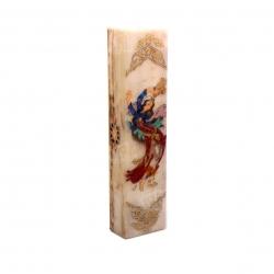 جعبه مضراب آرانیک نقاشی روی سنگ طلایی طرح لیلی مدل 1121500005
