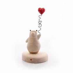 مجسمه چوبی رنگ قهوه ای  طرح خرس مهربان مدل 1105900042