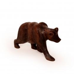مجسمه خرس چوبی ساده  رنگ قهوه ای مدل 1105900023