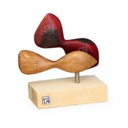 مجسمه ماهی چوبی  رنگ زرشکی مدل 1105900022