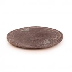 تخته سرو آرانیک گرد سنگی ساده رنگ خاکستری طرح ساده مدل 1009600002