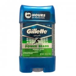 ژل شفاف ضد تعریق مردانه ژیلت مدل Power Beads Power Rush حجم 80 میلی لیتر