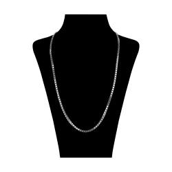 زنجیر نقره مردانه مدل ونیزی کد V009