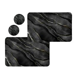 زیربشقابی طرح سنگ کد 8393 مجموعه 2 عددی به همراه زیر لیوانی
